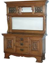 bargains on c1900 large antique walnut mirrorback buffet sideboard