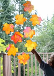 How To Make Fall Decorations At Home Fall Window Art Leaf Suncatchers Free Printable Template Leaf