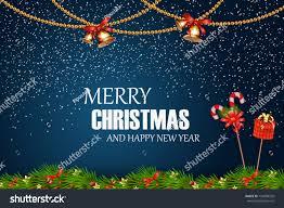 merry christmas happy new year festive stock vector 754908535