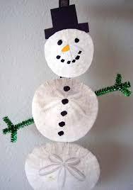 simple sand dollar snowmen ornament complete w photos