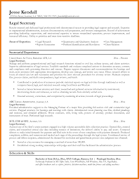 sample legal secretary resume ideas of legal secretary resume