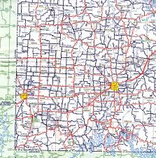 Missouri Road Map Missouri Highways Unofficial Section Of 1958 Official Highway Map
