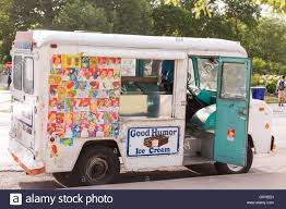Vintage Ford Ice Cream Truck - a good humor ice cream truck along lincoln park on a summers day