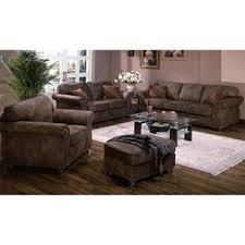 porter elk river faux suede leather microfiber living room set