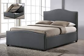 time living brunswick 4ft small double grey fabric ottoman bed