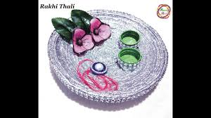 how to make decoration at home how to make rakhi thali at home pooja thali decoration raksha