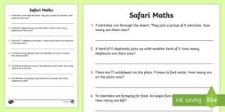 word problems primary resources page 1