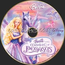 barbie magic pegasus dvd label dvd covers u0026 labels