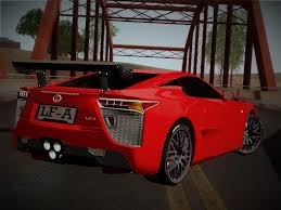 lfa lexus red lexus lfa nürburgring edition for gta san andreas