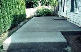 Backyard Concrete Patio Designs Cement Ideas For Backyard Concrete Patio Decorative Small Backyard