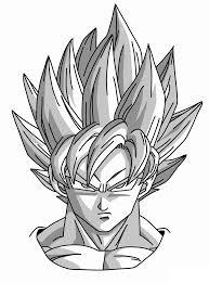 how to draw goku super saiyan from dragonball z mangajam com