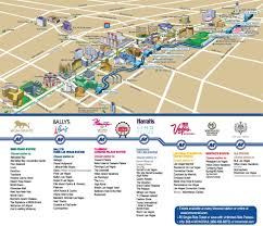 Seattle Monorail Map by Las Vegas Strip Hotels And Casinos Map