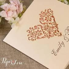 wedding invitations laser cut laser cut wedding invitation heart paper cards