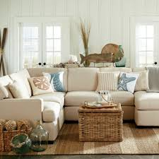 Coastal Decorating Sandy Beige And Blue Living Room Http Www Beachblissdesigns