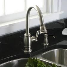 shop premier faucet sonoma brushed nickel 1 handle pull pegasus newbury 1 handle pull down kitchen faucet in brushed nickel