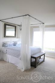 take it from me sawdust2stitches diy canopy bed tutorial guest post