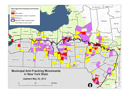 map of new york ny maps of fracking support and bans and moratoria in new york state