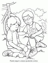 lds coloring pages i can be a good exle happy good samaritan coloring page pages 6 14881 5033