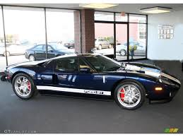 midnight blue metallic 2005 ford gt standard gt model exterior