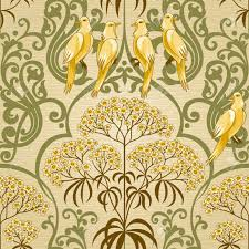 traditional floral pattern in retro style ornamental wallpaper