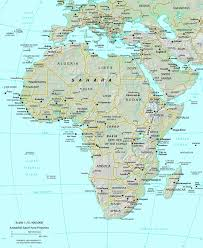 physical map of spain map of spain and africa africa map