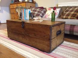 Rustic Chest Coffee Table Rustic Pine Box Vintage Wooden Chest Coffee Table Or