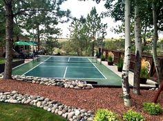 How To Build A Basketball Court In Backyard Pickleball It U0027s A Seattle Thing And Basketball Court Combo With