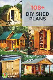 backyard shed blueprints 108 diy shed plans with detailed step by step tutorials free