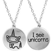 round sterling silver necklace images Silver unicorn necklace jpg