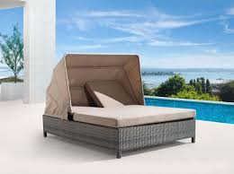 Double Chaise Lounge Sofa by Zuo Modern Siesta Key Double Chaise Lounge Espresso Disc 703544