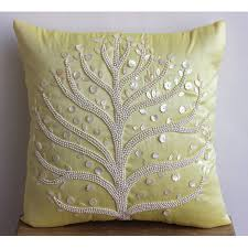 Pearl Home Decor Decorative Throw Pillow Covers Accent Pillow Couch Pillow 16 Inch