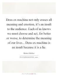 ex machina movie meaning deus ex machina not only erases all meaning and emotion it s an