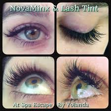 yolanda at spa escape now does eyelash extensions by novalash