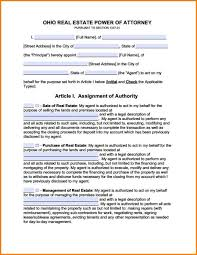 Texas Financial Power Of Attorney Form by 9 State Of Ohio Financial Power Of Attorney Form Attorney