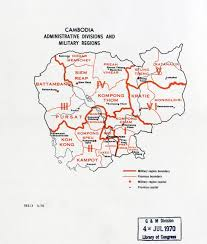 Map Of Cambodia Large Detailed Administrative Divisions And Military Regions Map