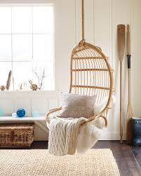 Rattan Swing Bench Superb Room With Furniture Decoration Featuring Hanging Mirror