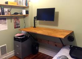 Standing Height Desk Ikea by I Made My Own Wall Mounted Standing Desk And So Can You Matt
