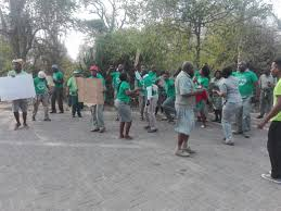 video knp employees strike in skukuza lowvelder