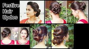 2 quick u0026easy indian bun hairstyles for saree anarkali lehnga