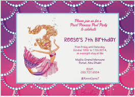 Princess Themed Invitation Card Elle U0027s Mom Party Ideas Pearl Princess Barbie For Our Reese