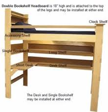 Free Loft Bed Plans For College by College Bed Lofts Free Loft Bed Bookshelf Plans Loft Bed Ideas