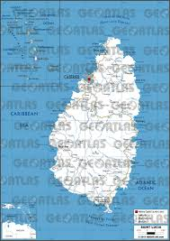 St Lucia Map Geoatlas Countries Saint Lucia Map City Illustrator Fully