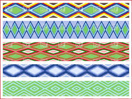 seamless mosaic ornaments handmade ethnic style borders with