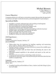 resume construction experience construction carpenter resume u2013 foodcity me