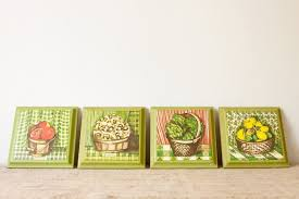kitchen wall plaques kitchen wall plaques fresh garden baskets set of 4 by inmyigloo
