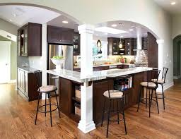 kitchen island with posts kitchen island post large l shaped open concept kitchen