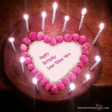 birthday cake candles birthday cake with candles name photo on cakes