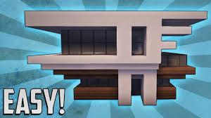 Build A Small Home Minecraft How To Build A Small Modern House Tutorial 2 Youtube