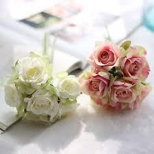 cheap flowers for weddings get cheap artificial roses bouquet aliexpress