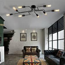 Pendant Lights For Living Room Edison Retro Artistic Chandeliers 8 Heads Design Living Room